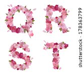 vector spring alphabet with... | Shutterstock .eps vector #178363799