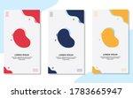 set of minimalist abstract... | Shutterstock .eps vector #1783665947