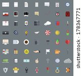 vector flat modern icons set ...