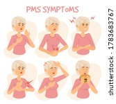 symptoms of pms vector isolated ... | Shutterstock .eps vector #1783683767