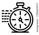 Running Stopwatch Icon. Outline ...