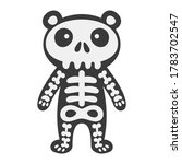 bear in skeleton suit vector... | Shutterstock .eps vector #1783702547