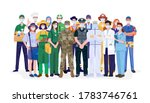 essential workers  various... | Shutterstock .eps vector #1783746761
