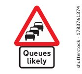 traffic queues likely ahead... | Shutterstock .eps vector #1783761374
