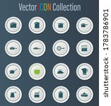 dishes icon set for web sites...   Shutterstock .eps vector #1783786901