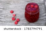 homemade raspberry jam and... | Shutterstock . vector #1783794791