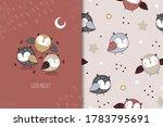 cute cartoon little owls... | Shutterstock .eps vector #1783795691