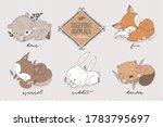 cartoon forest characters... | Shutterstock .eps vector #1783795697