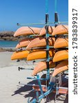 Kayaks Stowed In A Trailer On...