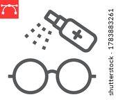 disinfection eyeglasses line... | Shutterstock .eps vector #1783883261