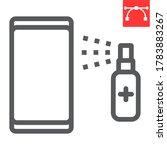 disinfection smartphone line... | Shutterstock .eps vector #1783883267