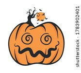 vector of halloween pumpkin... | Shutterstock .eps vector #1783902401