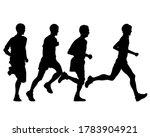young athletes run a marathon.... | Shutterstock .eps vector #1783904921