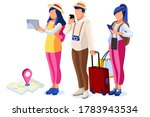 tourism  character with map and ... | Shutterstock .eps vector #1783943534