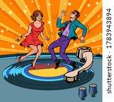 retro vinyl record a couple... | Shutterstock .eps vector #1783943894