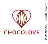 chocolate and heart love logo.... | Shutterstock .eps vector #1783980614