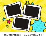 children's photo book in pop... | Shutterstock .eps vector #1783981754