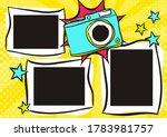 children's photo book in pop... | Shutterstock .eps vector #1783981757