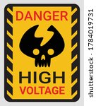 high voltage sign or electrical ... | Shutterstock .eps vector #1784019731