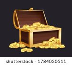 chest of gold coin. large...