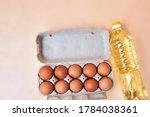10 Eggs In A Cardboard Egg Box...