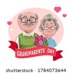 happy grandparents day greeting ...   Shutterstock .eps vector #1784073644