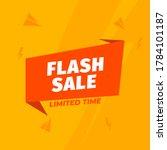 creative banner flash sale...   Shutterstock .eps vector #1784101187