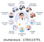 flu virus prevention icons set... | Shutterstock . vector #1784115791