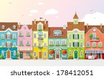 old historical houses  shops... | Shutterstock .eps vector #178412051