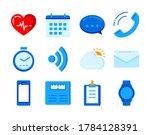 fitness icons tracker... | Shutterstock .eps vector #1784128391