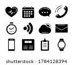 fitness icons tracker... | Shutterstock .eps vector #1784128394
