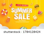 summer sale with decoration...   Shutterstock .eps vector #1784128424