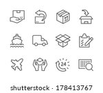 simple icon set related to... | Shutterstock .eps vector #178413767