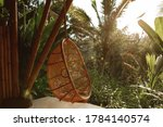 Wicker Rattan Hanging Chair On...