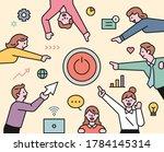 business team members are... | Shutterstock .eps vector #1784145314