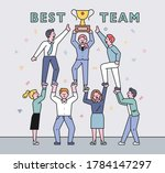 business team members are... | Shutterstock .eps vector #1784147297