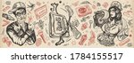 hip hop music. old school... | Shutterstock .eps vector #1784155517