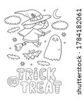 trick or treat coloring page.... | Shutterstock .eps vector #1784182061