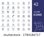 Globe Icons Set. Collection Of...
