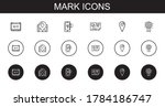 mark icons set. collection of...