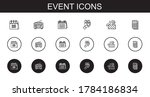 event icons set. collection of...