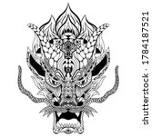 hand drawn of dragon head in...   Shutterstock .eps vector #1784187521