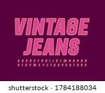 vector pink denim emblem...   Shutterstock .eps vector #1784188034