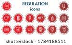 Editable 14 Regulation Icons...