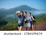 Group Of Asian Woman Hiker...