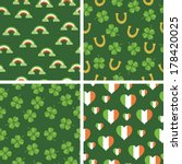 set of 4 seamless st patricks... | Shutterstock .eps vector #178420025