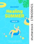 summer vacation healing big... | Shutterstock .eps vector #1784200421
