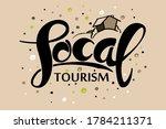 local tourism handwritten text... | Shutterstock .eps vector #1784211371