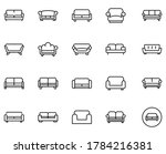 sofa set line icons in flat...   Shutterstock .eps vector #1784216381