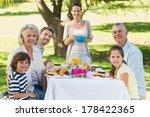 portrait of an extended family...   Shutterstock . vector #178422365